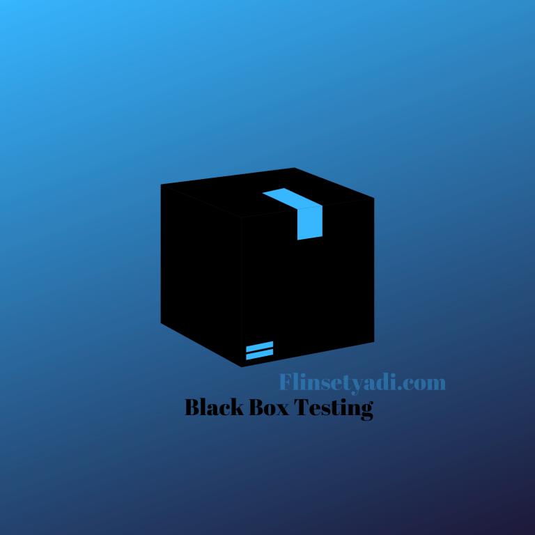 Cara Pengujian Black Box Testing