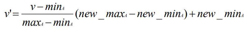 Data Transformation: rumus Min-max Normalization