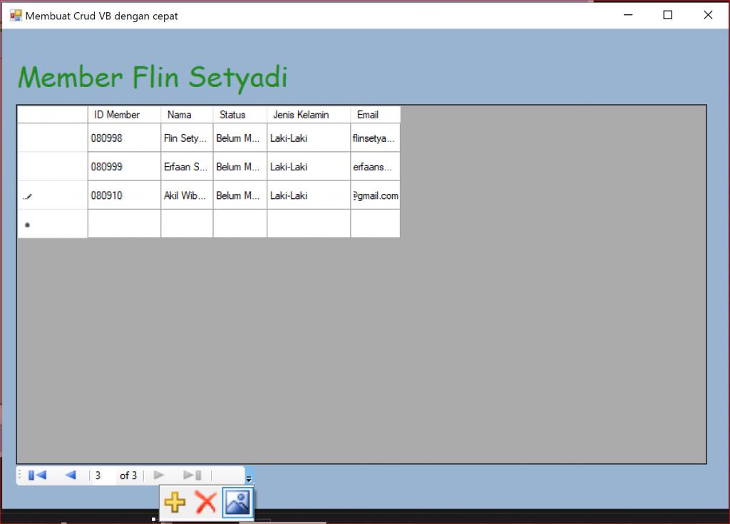 Membuat CRUD Dengan VB .NET dan Database MySQL