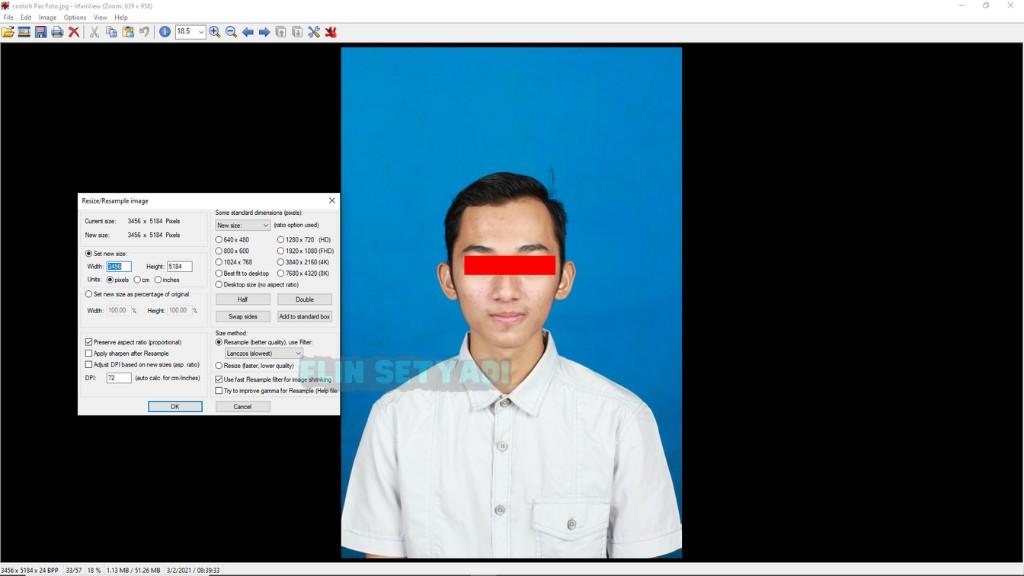 Cara Edit Ukuran Foto di Aplikasi IrfanView