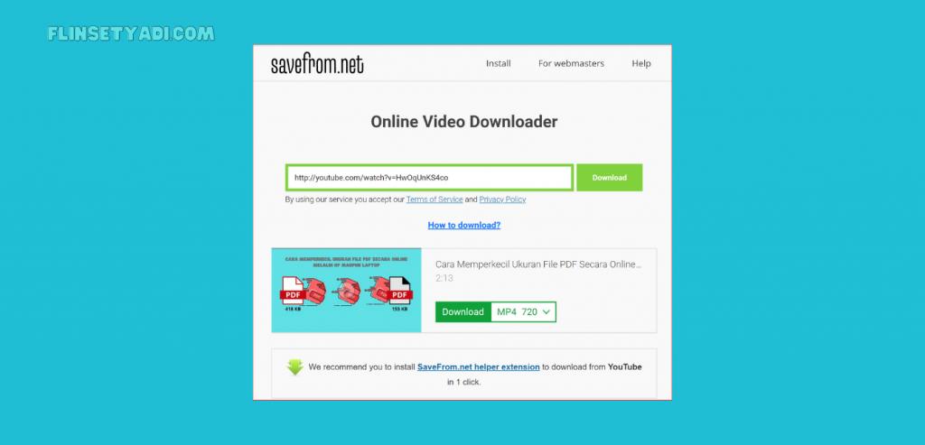 Cara Download Video Youtube Tanpa Aplikasi Secara Praktis Flin Setyadi
