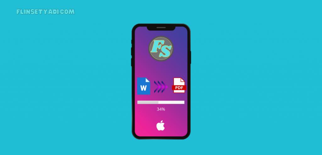 mengubah word ke pdf di iphone