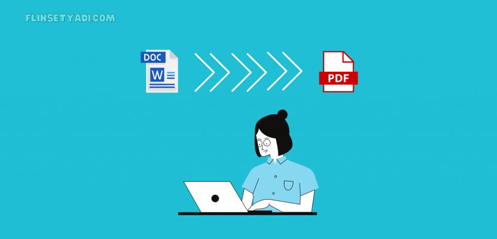 mengubah word ke pdf di laptop