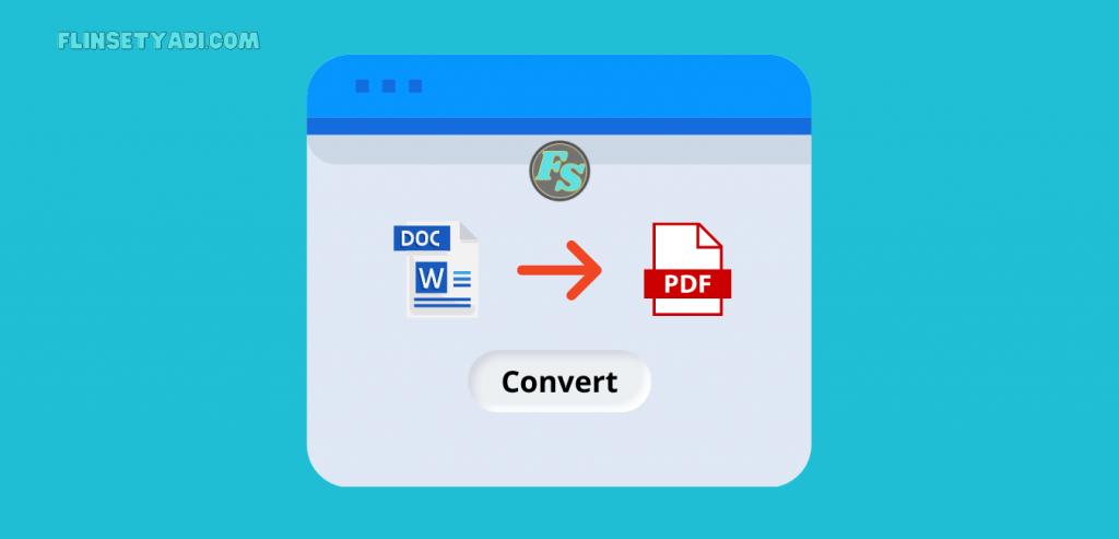 mengubah word ke pdf tanpa aplikasi