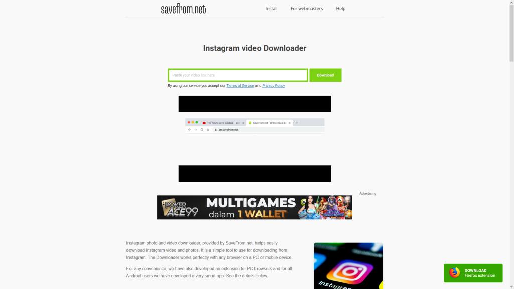 SaveFrom.net: Instagram video Downloader