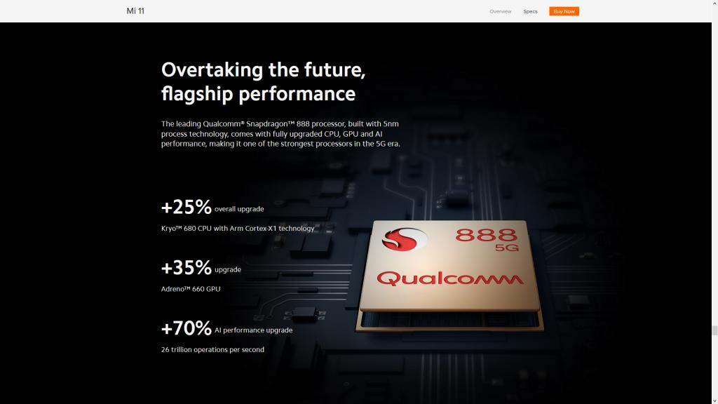 Chipset dan Memori Xiaomi Mi 11