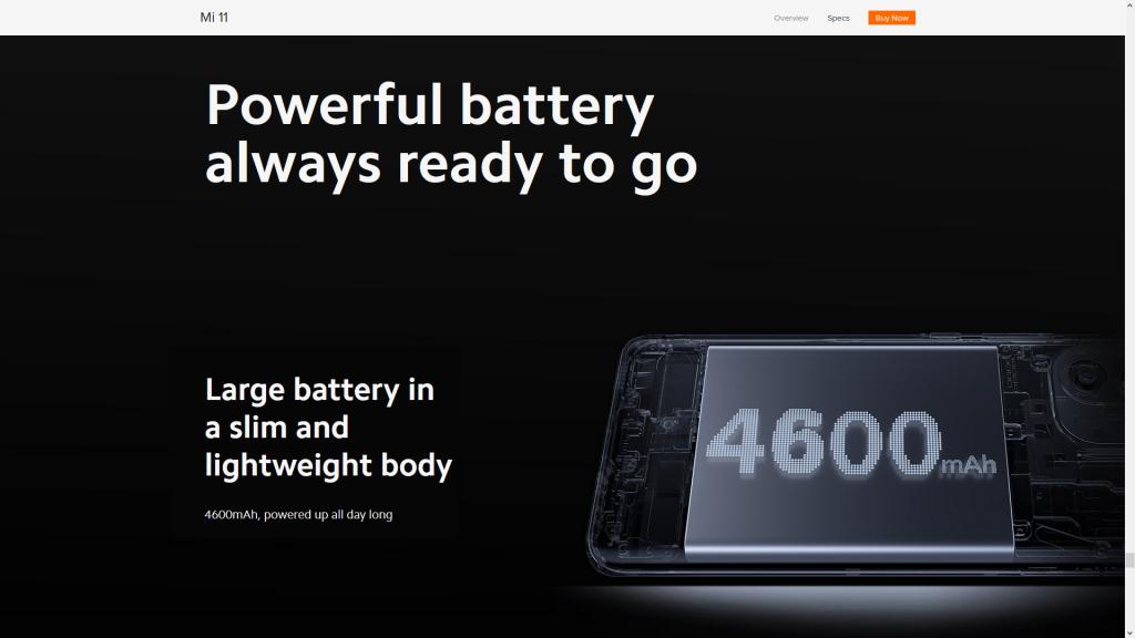 Baterai dan Isi Daya Xiaomi Mi 11