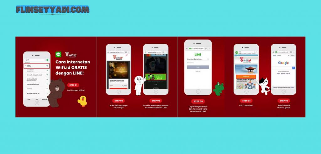 Akses Wifi.id gratis menggunakan Line