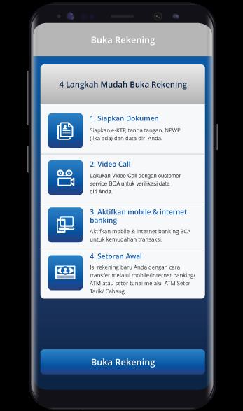 Buka Rekening - BCA Mobile