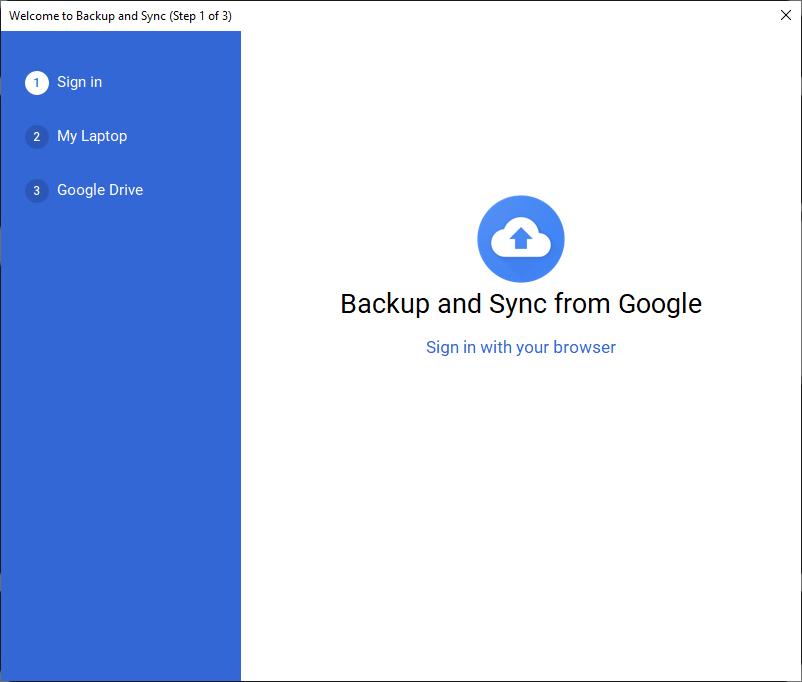 Cara Memasang Google Drive di Laptop - Sign in