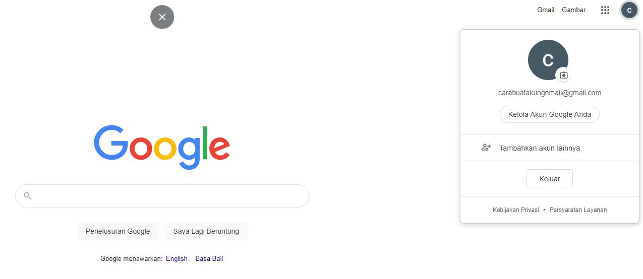 Cara Membuat Akun Gmail Baru selesai