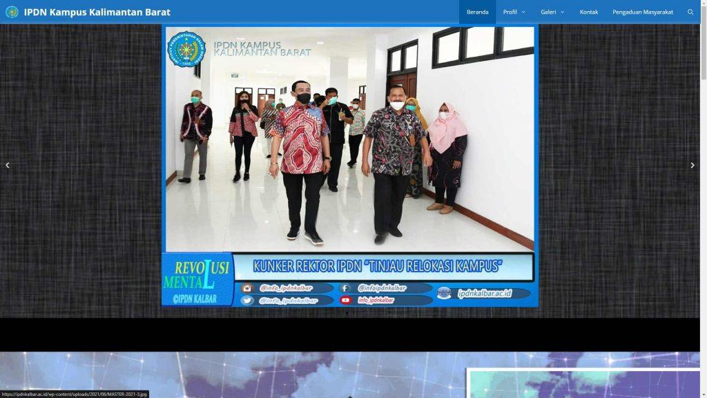 Portal Web IPDN Kampus Kalimantan Barat (Kalbar)