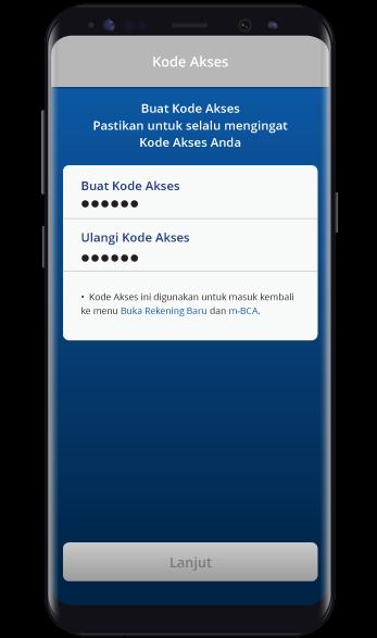 Kode Akses - BCA Mobile