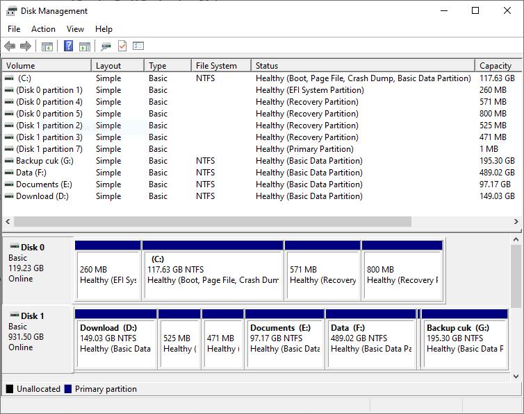 Cek Hardisk Tanpa Software - Disk Management