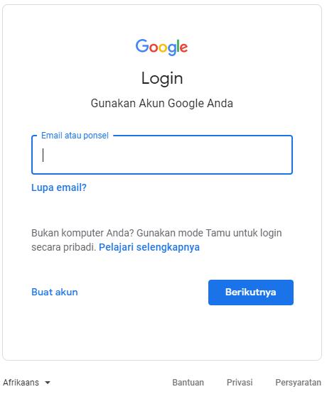 laman login dan buat akun - cara membuat akun gmail