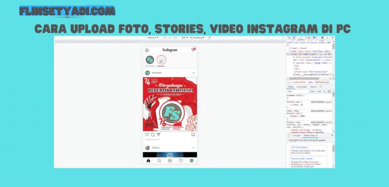 Upload Foto Instagram di PC