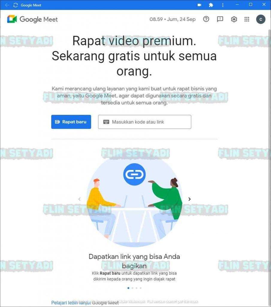 Download Aplikasi Google Meet PWA for PC Atau Di Laptop